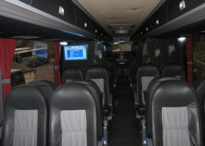 Bus isle with TV